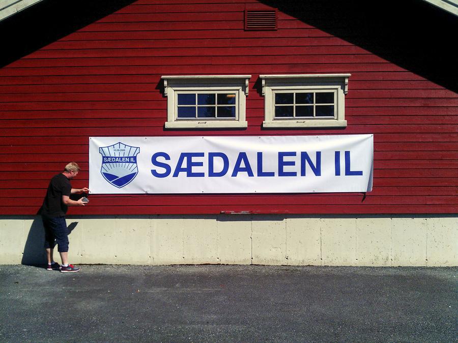 Sædalen IL banner på Voss Cup foto: © Bernt-Erik Haaland