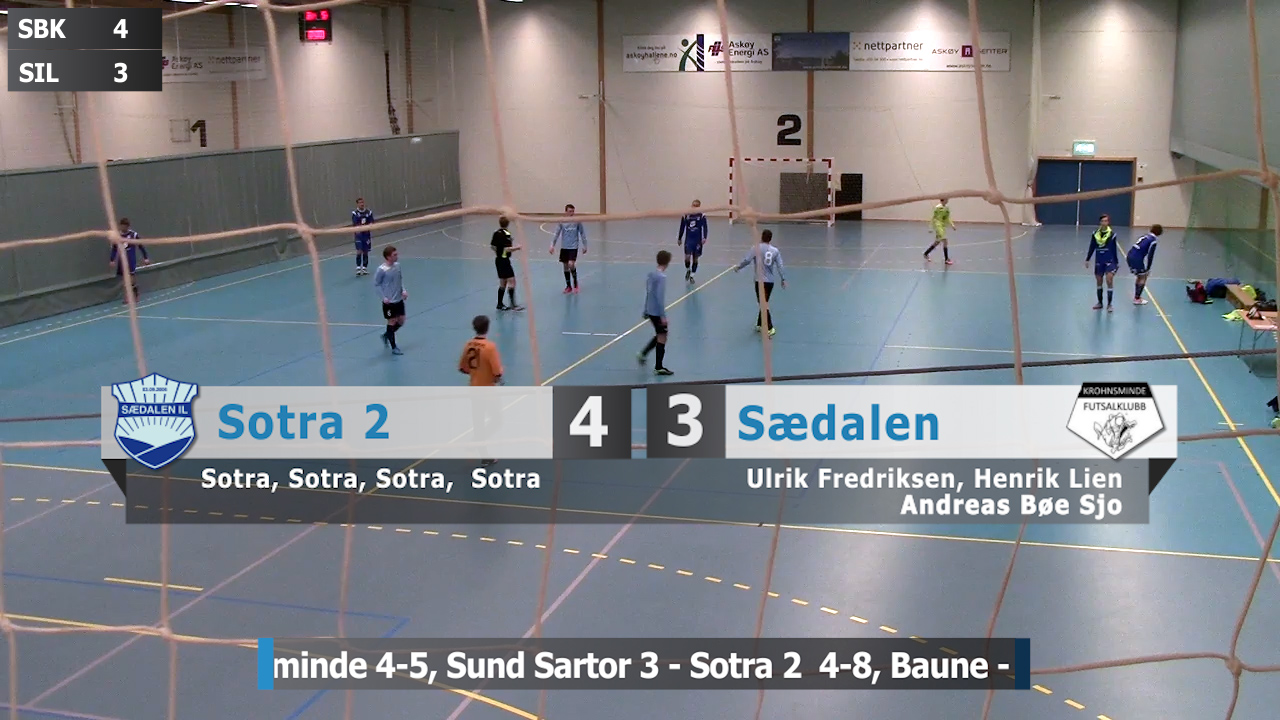 Futsal video screenshot: Sotra 2 - Sædalen 4-3 foto: Bernt-Erik Haaland / fotballbilder.no