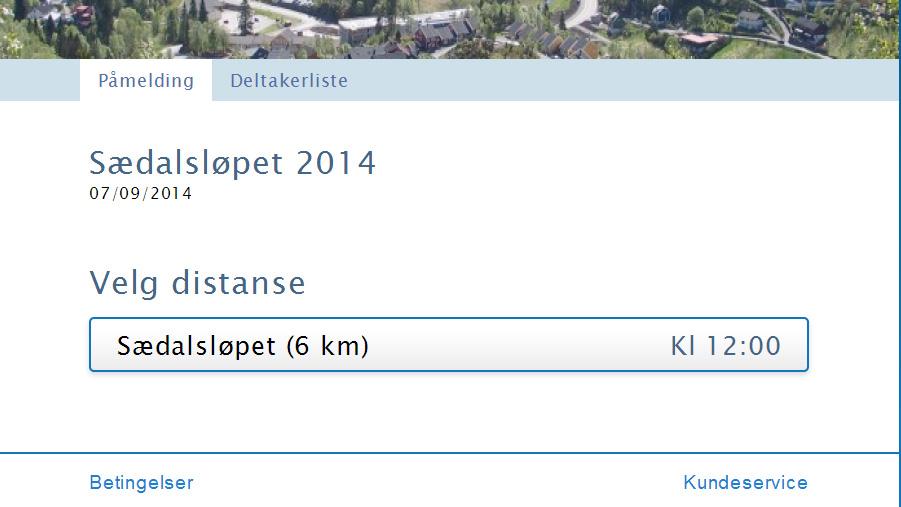 Påmelding Sædalsløpet 2014