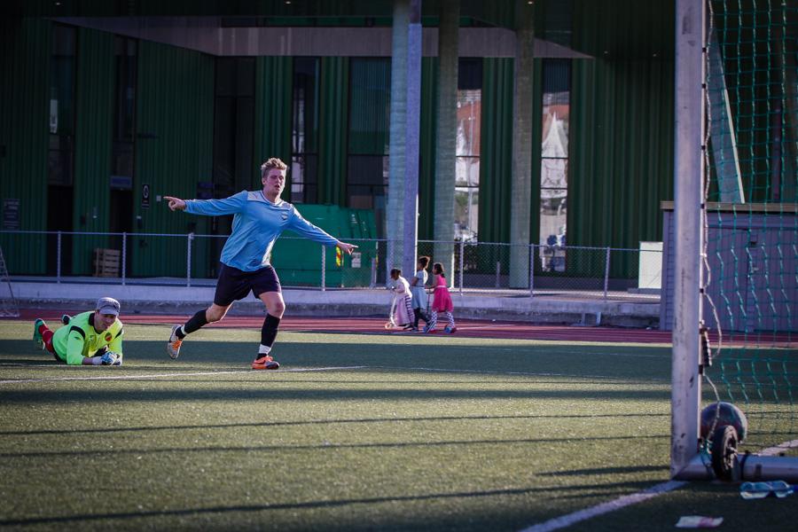 Tommy Cindahl scoret sitt andre mål for dagen i kampen mot Ny-Krohnborg2. Foto: © fotballbilder.no